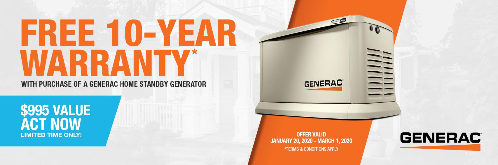 Homestandby Generator Deal | Warranty Offer | Generac Dealer | Bethel Park, PA